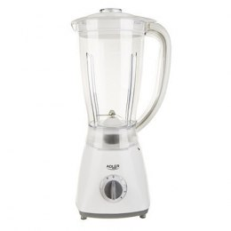 Adler Blender AD 4057 White, 450 W, Plastic, 1.5 L, Type Tabletop