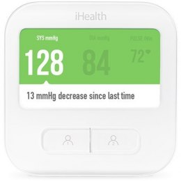IHealth CLEAR Smart Blood Pressure Monitor White, Weight 350 g, Wireless, Method of measurement: Oscillimetric with automatic i