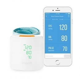 IHealth Wrist Blood Pressure Monitor BP7S Wireless, Blood pressure readings are stored on the secure, free, HIPAA compliant iHea
